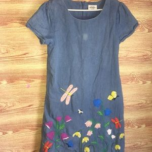Mini Boden Butertfly Dress Size 11-12 years